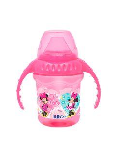 Caneca com Bebedor de Silicone 230 ml Disney - Rosa