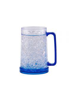 Caneca Com Parede Dupla 450Ml Solecasa - Craquelado Azul