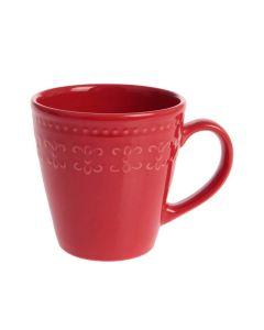 Caneca de Cerâmica Relieve 300ml Corona - Vermelha