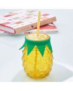 Caneca de Vidro Abacaxi Havan - Amarelo