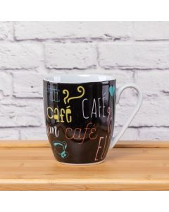 Caneca Estampada 360ml Solecasa - Cafe