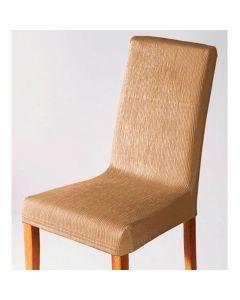 Capa para Cadeira Malha Dupla com Costas - Areia
