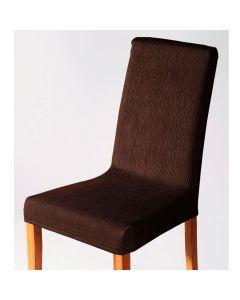 Capa para Cadeira Malha Dupla com Costas - Tabaco