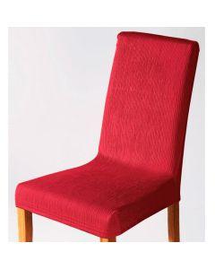 Capa para Cadeira Malha Dupla com Costas - Vermelho