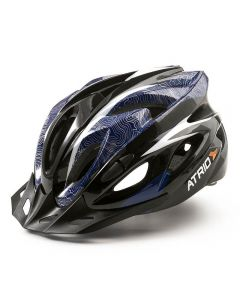 Capacete Para Ciclismo MTB Inmold 2.0 Viseira Removível Atrio - Azul M