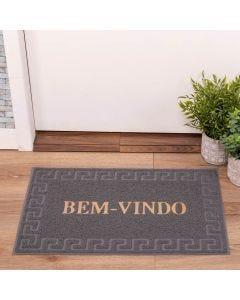 Capacho Vinil 40x60cm Bem Vindo Solecasa - Cinza