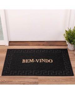 Capacho Vinil 50x80cm Bem Vindo Solecasa - Preto