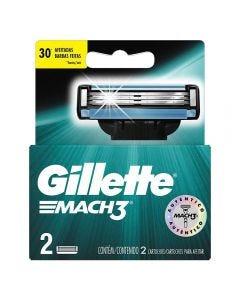 Carga Para Gillette Mach 3 - 2 Unidades