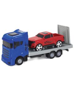 Carreta Fury Truck com Camionete Orange Toys - Azul