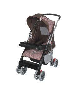 Carrinho Bebê Berço Reversível Thor Tutti Baby - Marrom