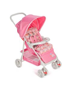 Carrinho Berço Bebê Soft de 0 meses a 15 kg Voyage - ROSA SWEET