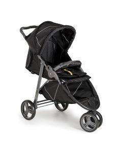 Carrinho de Bebê Berço 3 Rodas Cross - Black