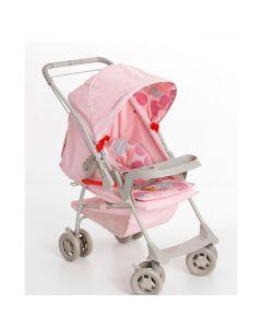 Carrinho de Bebê Milano Reversível Galzerano - Rosa Bebê