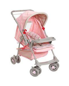 Carrinho de Bebê Milano Reversível Galzerano - Rosa Bebê Liso