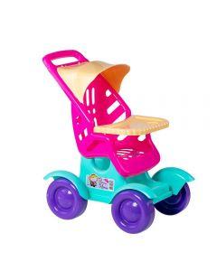 Carrinho De Boneca - Tilin Brinquedos - Rosa