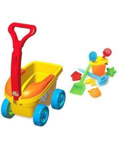 Carrinho de Praia Bell Cargo Bell Toy - Amarelo