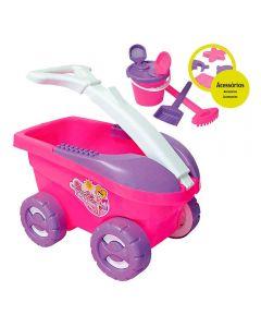 Carrinho Debbie Praia Com 9 Peças Bell Toy - 9078