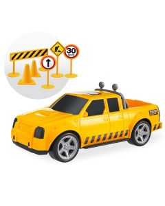 Carrinho Road Work - Amarelo