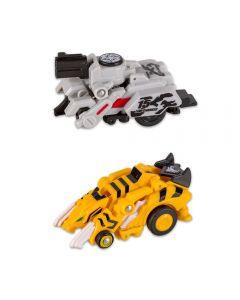 Carrinho Robot Racerz Multikids - BR865 - Cinza e Amarelo