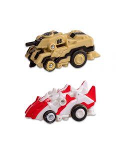 Carrinhos Robot Racerz Multikids - BR864 - Bege e Branco