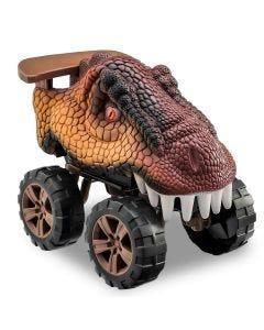 Carro Animals Off Road Dinossauro T-Rex Usual Plastic - Marrom