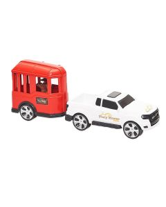 Carro com Cavalo 0503 Orange Toys - Escarlate