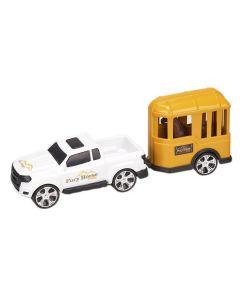 Carro com Cavalo 0503 Orange Toys - Branco