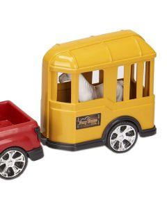 Carro com Cavalo 0503 Orange Toys - Vermelho