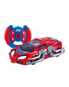 Carro de Controle Remoto Homem Aranha 5842 Candide - Vermelho