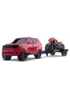 Carro Jeep Draco com Moto Orange Toys - 0498 - Colorido