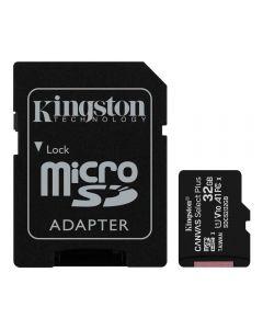 Cartão De Memória 32Gb Microsd Com Adaptador Kingston - Preto