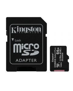 Cartão De Memória 64Gb Microsd Com Adaptador Kingston - Preto