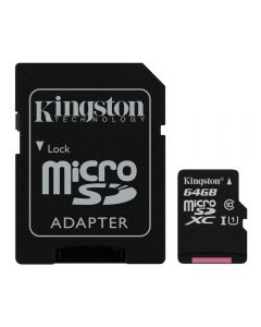 Cartão de Memória MicroSD 64GB SD10 Kingston - Preto
