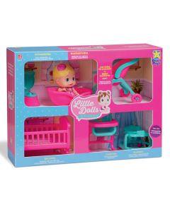 Casinha Com Boneca Little Dolls Super Playground Divertoys - 8126
