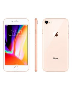 "Celular iPhone 8 64GB Single Chip Tela 4,7"" Apple - Dourado"