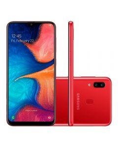 """Celular Smartphone Galaxy A20 Dual Chip 6,4"""" Samsung - Vermelho"""