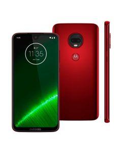 Celular Smartphone Moto G7 Plus Motorola Dual Câmera - Rubi