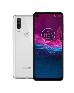 "Celular Smartphone Moto One Action 128GB 6,34"" Motorola - Branco Polar"