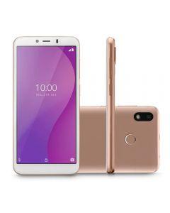 "Celular Smartphone Multilaser G 4G 32GB 5,5"" - Dourado"