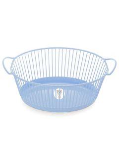 Cesta Oval Fofura Yoyo Baby - Azul Claro