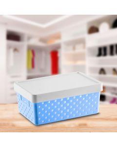 Cesto Organizador 29x19x12cm Quadratta Paramount - Azul