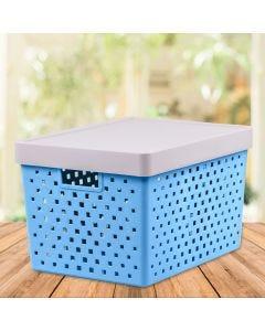 Cesto Organizador 39x29cm Quadratta Paramount - Azul