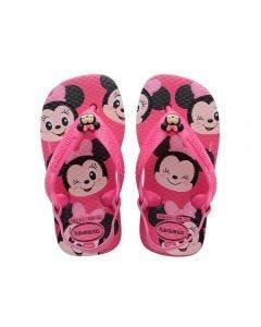 Chinelo Baby Disney Classics Havaianas - Rosa 23-24