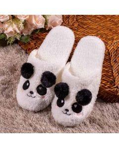 Chinelo Pantufa Panda Holla - Branco 35-36