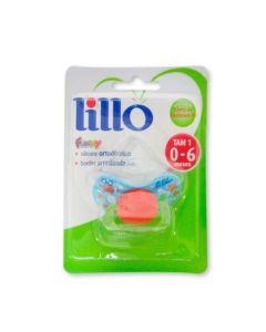Chupeta Funny Ortodontico Nº1 Silicone 0-6 Meses Lillo - Azul