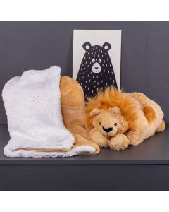 Cobertor Baby Sherpa Com Travesseiro - Leao