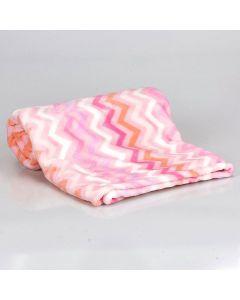 Cobertor Bebê Microfibra Flannel Camesa - Rosa