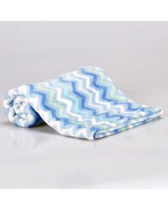 Cobertor Bebê Microfibra Flannel Camesa - Azul