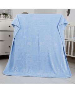 Cobertor Bebê 80cm x 110cm Alto Relevo Yoyo Baby - Azul