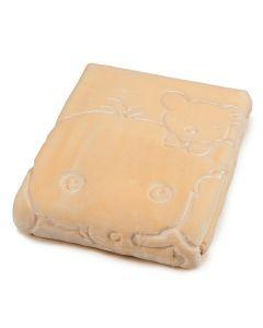 Cobertor Bebê 80cm x 110cm Alto Relevo Yoyo Baby - Bege